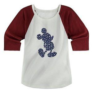 Stars & Stripes Mickey Mouse 3/4 Sleeve Shirt